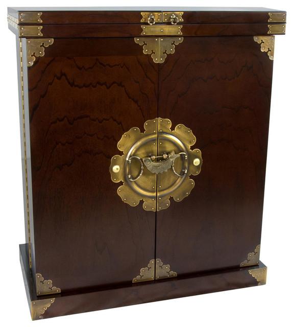 Antique Style Liquor Cabinet Wine Bar