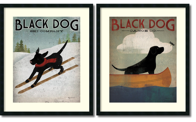 Ryan fowler black dog set of 2 framed art print 30x36 each ryan fowler black dog set of 2 framed art print 30x36 malvernweather Image collections