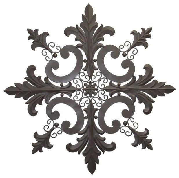 """Tuscan Metal Wall Art 50"""" tuscan iron metal scrolling acanthus hanging wall grille"""