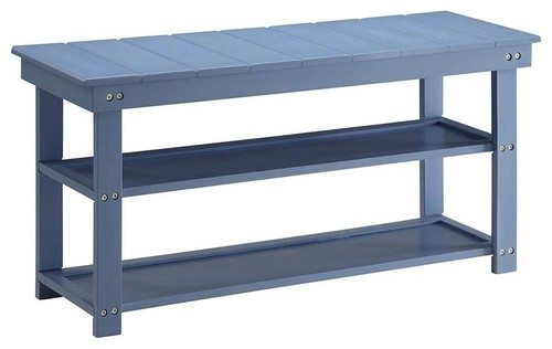 Utility Mudroom Bench in Blue Finish
