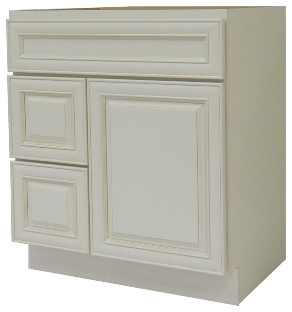 NGY - NGY Bathroom Vanity Cabinet, Antique White, 30''x21'' & Reviews   Houzz