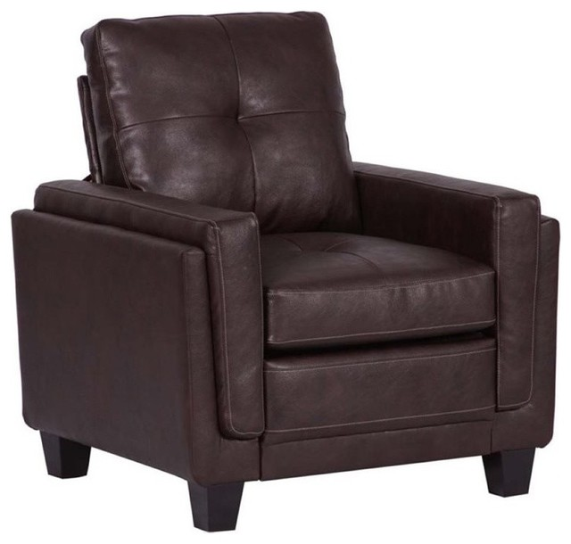 Fine Pemberly Row Modern Faux Leather Accent Chair Chocolate Brown Onthecornerstone Fun Painted Chair Ideas Images Onthecornerstoneorg