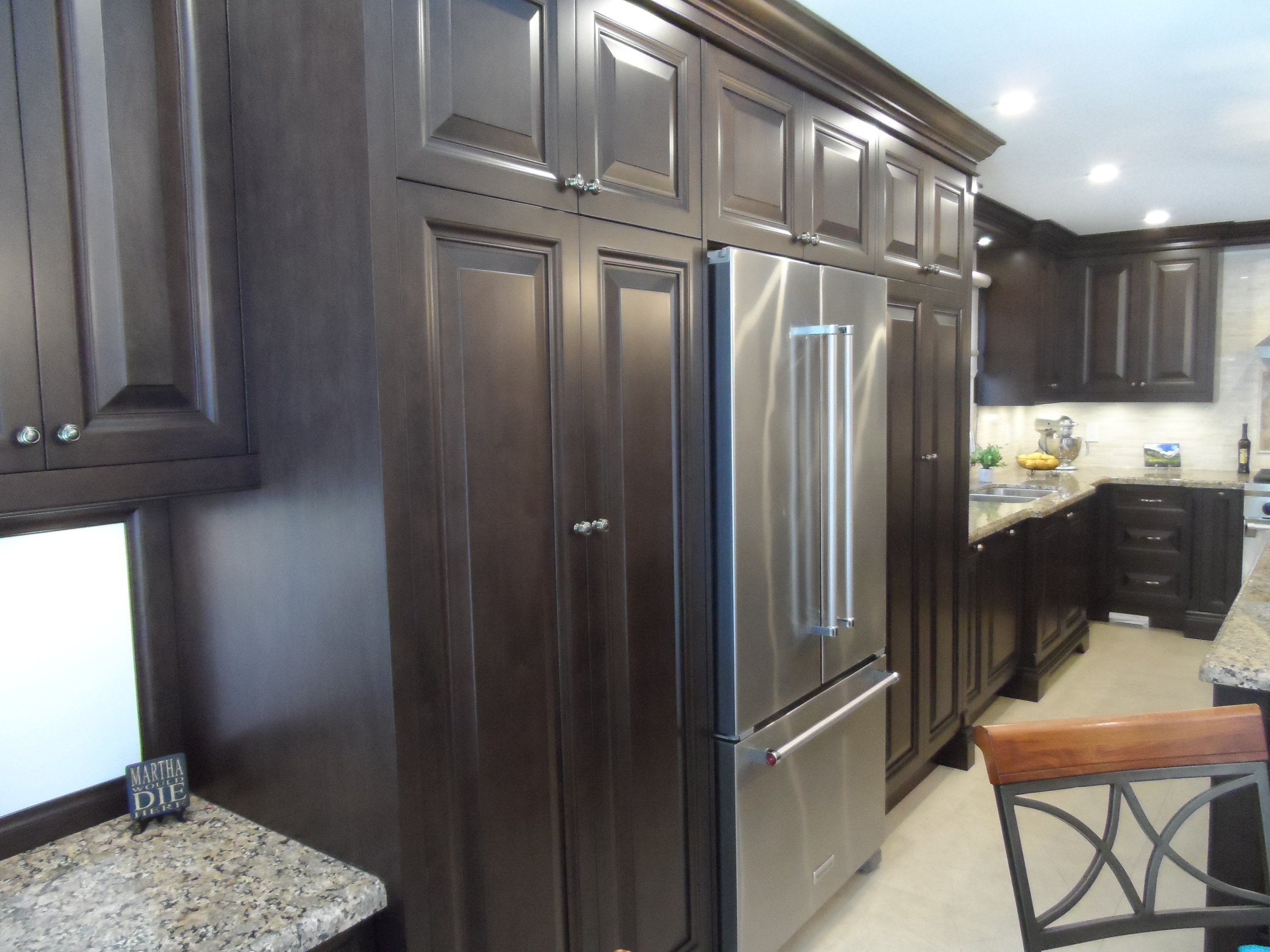 Beautiful warm dark wood finish Kitchen