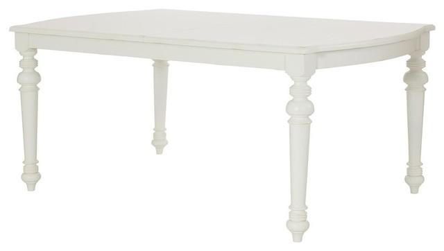 American Drew Lynn Haven Rectangular Leg Table, Dover White.