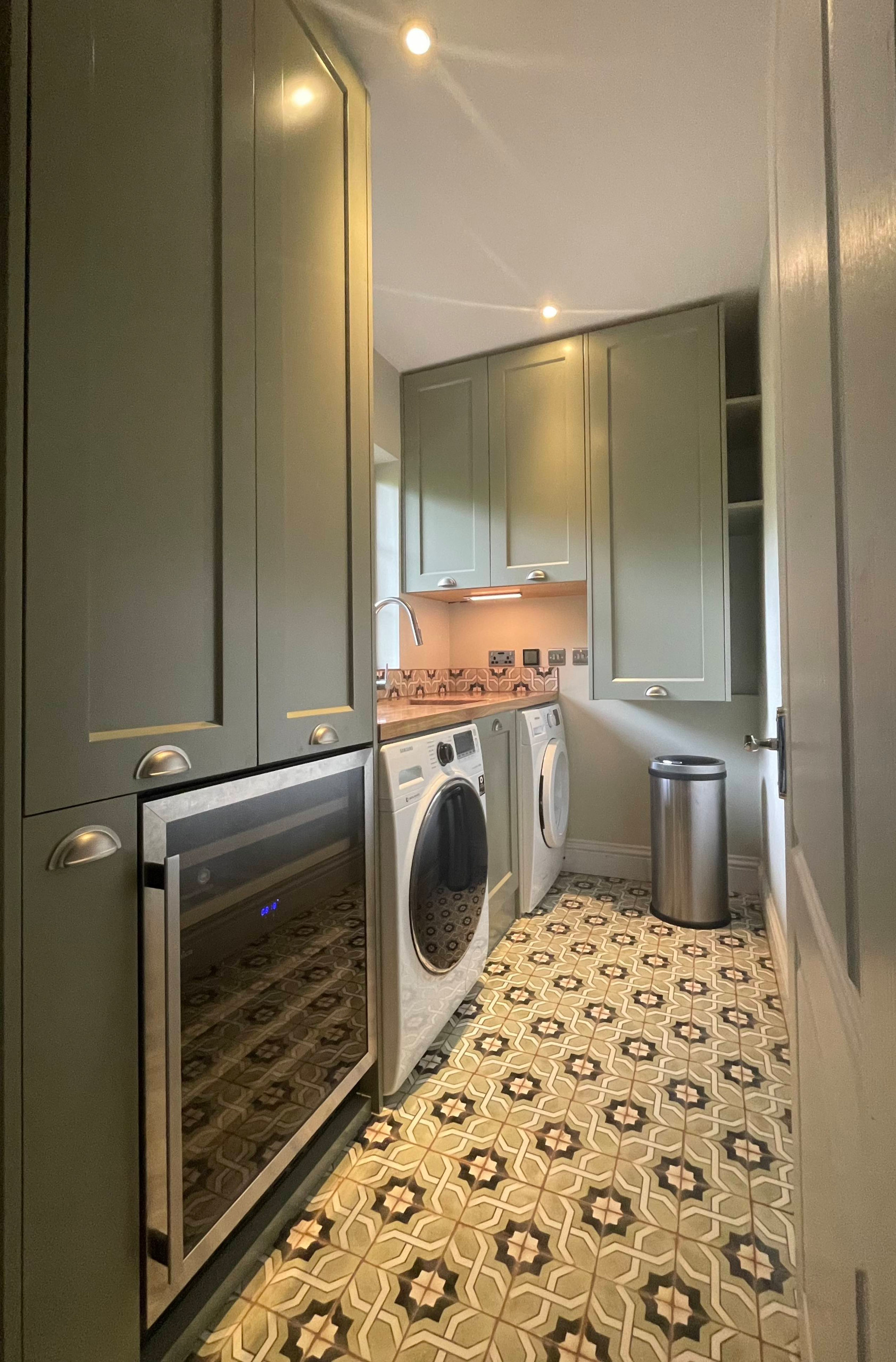 Bespoke cabinets for utility room