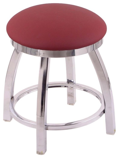 802 Misha 18  Vanity Stool With Chrome Finish Allante Wine Seat and 360  sc 1 st  Houzz & 802 Misha 18