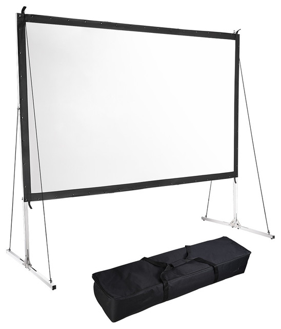 120 16:9 Hd Home Outdoor Folding Projector Screen, Stand by YesHom