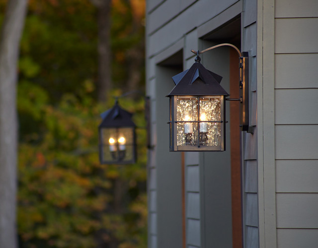Exterior Garage Lighting - Transitional - Outdoor Wall ... on Exterior Wall Sconce Light Fixtures id=88092