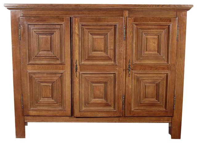 Vintage Golden Oak Sideboard Cabinet