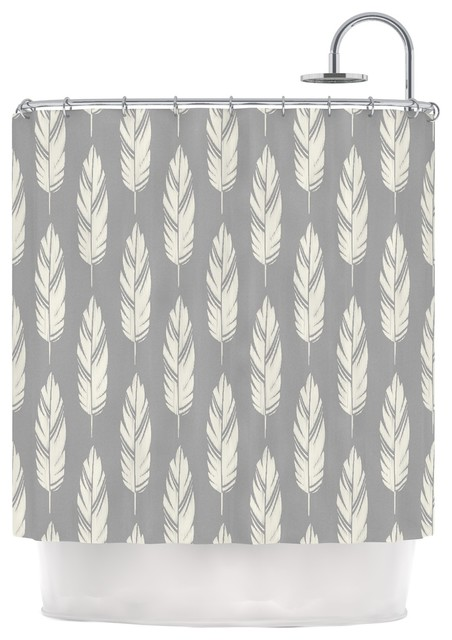 Ideal 96+ Grey And Cream Shower Curtain - Grey And Ivory Damask  YT77