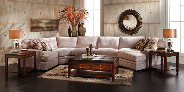 Glenwood Sectional Group Transitional Living Room