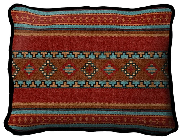 Saddleblanket Red Pillow.