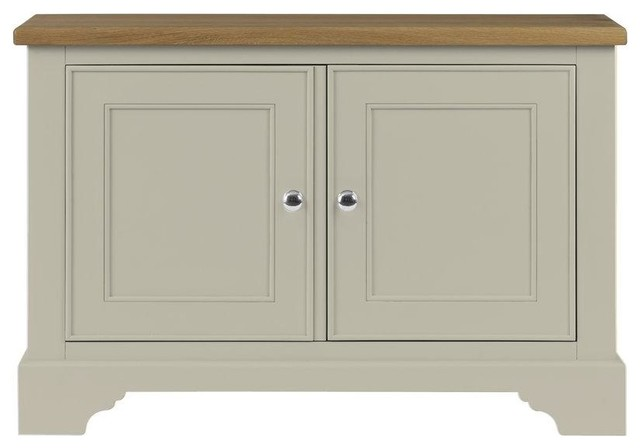 Somerdale Display Cabinet Base Unit, Limestone
