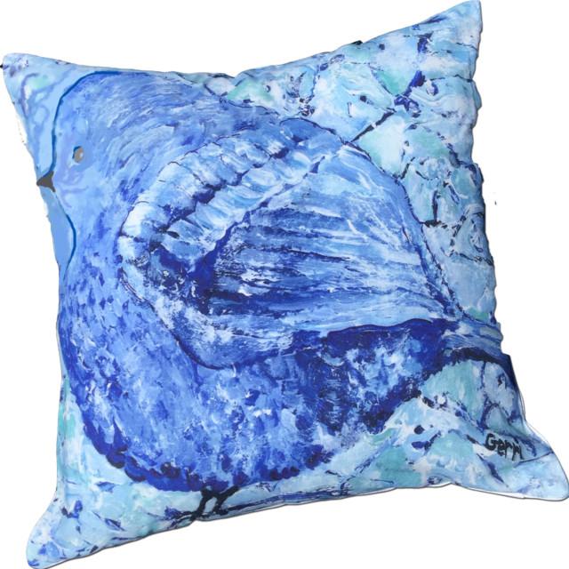 Traditional Decor Pillows : My Island - Little Bird I Pillow, 20