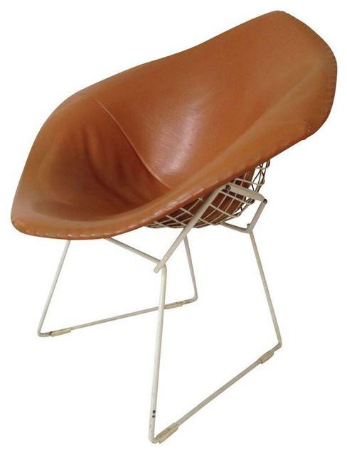 Orange U0026 White Harry Bertoia Knoll Diamond Chair