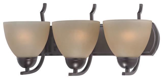 Oil Rubbed Bronze Three Globe Bathroom Vanity Light Bar: Cornerstone Kingston 3-Light Vanity