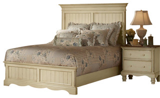 Hillsdale Wilshire 5 Piece Panel Bedroom Set In Antique White Traditional Bedroom Furniture