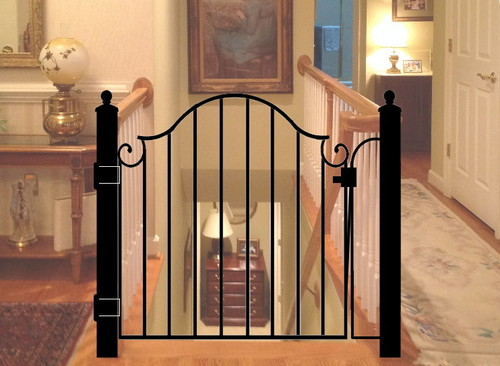 Decorative Safety Gate For Staircase