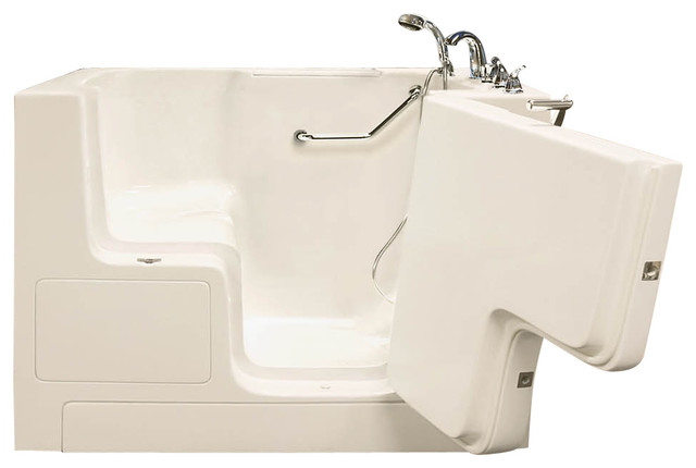 "Oasis Walk-In Bathtub 32""x52"" Standard Soaker Right-Hand Door, Biscuit."