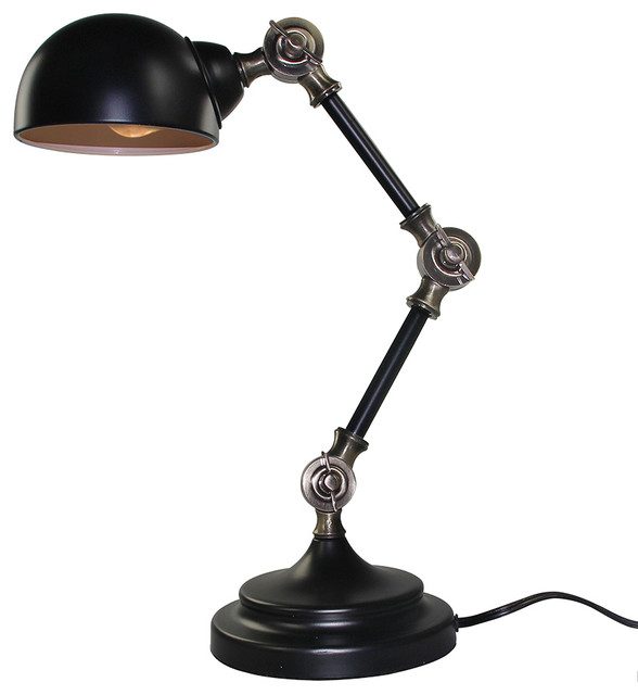 LNC 1 Light Retro Style Industrial Table Lamp Lighting Traditional Desk  Lamps