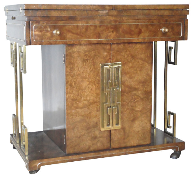 Consigned Mastercraft Rolling Bar Cart Home Bar - Asian - Bar ...