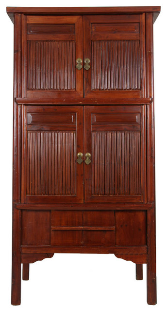 Consigned Antique, Chinese Bamboo Cabinet - Asian - Accent Chests And Cabinets - by Golden ...