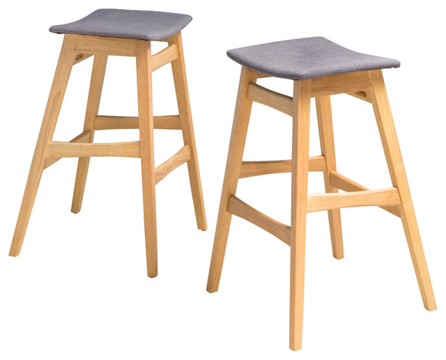 Oster Mid Century Design Bar Stools Set Of 2 Midcentury