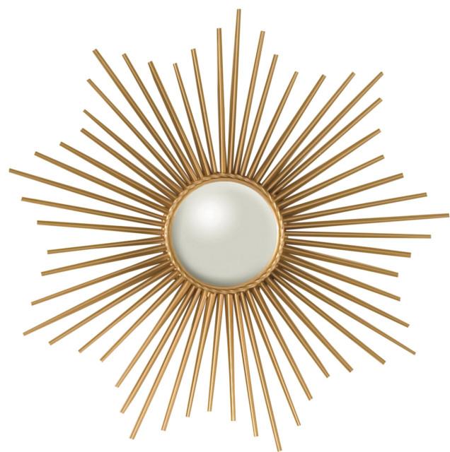 Mini Sunburst Mirror Gold