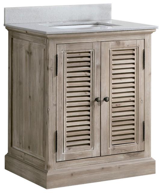 Infurniture 31 Solid Wood Sink Vanity
