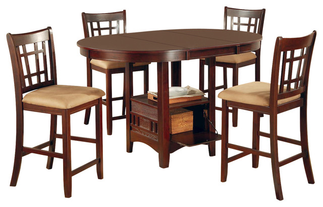 5 Piece Counter Height Table Chair Dining Set