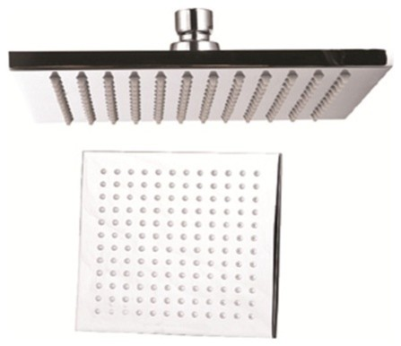 Large 12 Square Rain Shower Head Brushed Nickel Modern