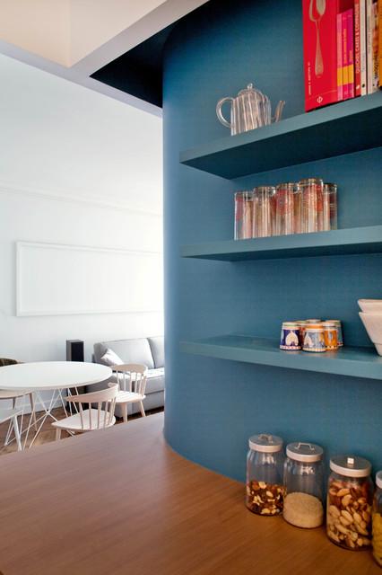 Stylische idee regale und w nde in der gleichen farbe streichen - Stylische babyzimmer ...
