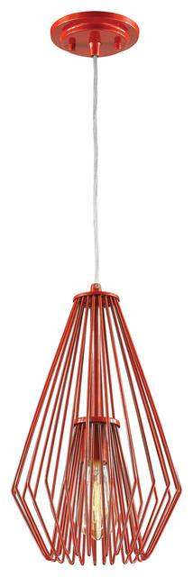 Quintus 1-Light Mini Pendant, Red