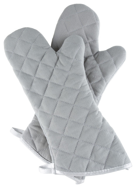 5476b6b75f6 Oversized Quilted Mittens By Lavish Home Silver