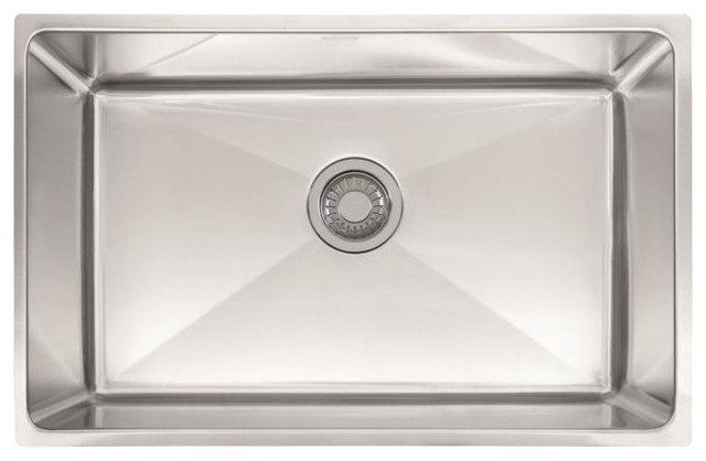 Franke Psx1102710 Professional Single Basin Undermount 10007 Sink, 28 3/4""