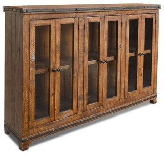 ... Solid Wood Book Case Cabinet China Cabinet - Media Cabinets | Houzz