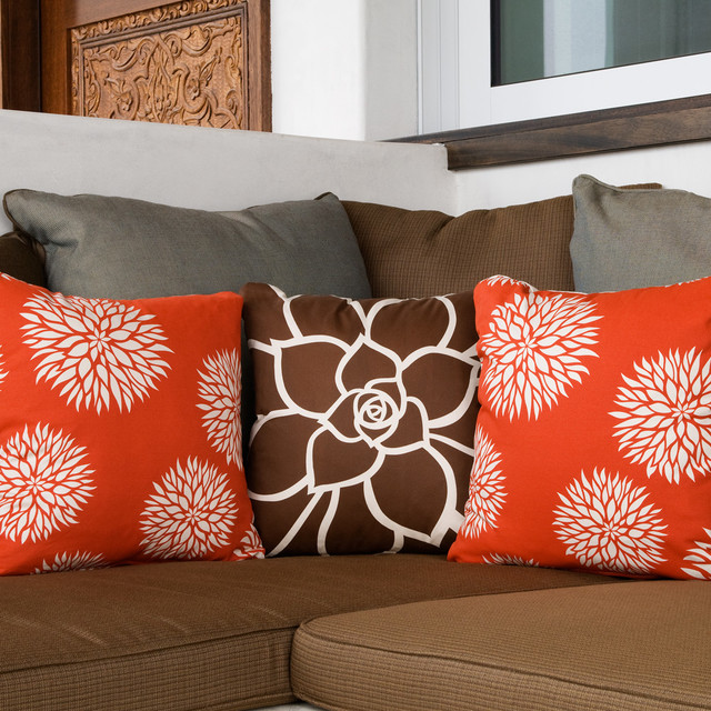 Throw Pillows For A Floral Couch : Floral Modern Eco Throw Pillows for Couch - Modern - San Diego - by Wabisabi Green
