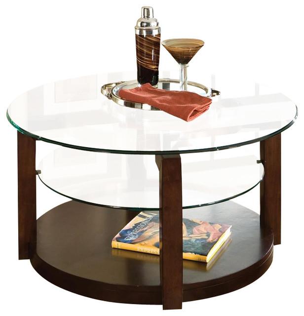 Standard Furniture Coronado 3 Piece Coffee Table Set In Cherry Traditional  Coffee Table