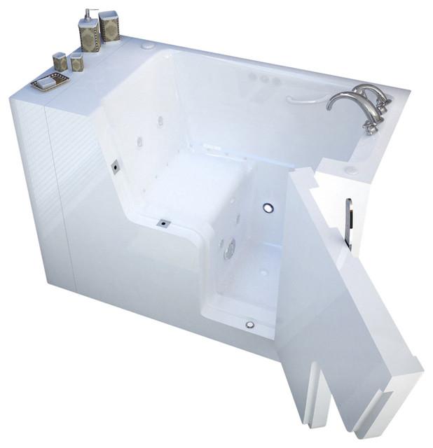 """29""""x53"""" Meditub Walk-In Ada Bathtub, Left, Air Massage System."""