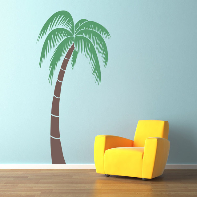 Palm Tree Wall Decal Extra Large 6 Foot Matte Black