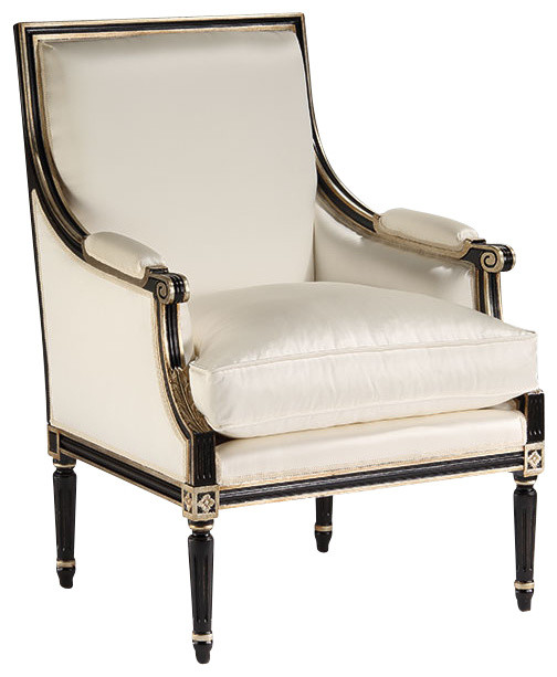 Louis Xvi Upholstered Armchair Traditional Armchairs And Accent Chairs