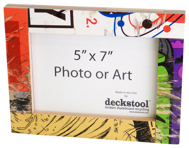 Recycled Skateboard Picture Frame for 5x7 Photo or Art by Deckstool ...