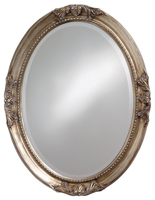 40101 Queen Ann Antique White Mirror. -2
