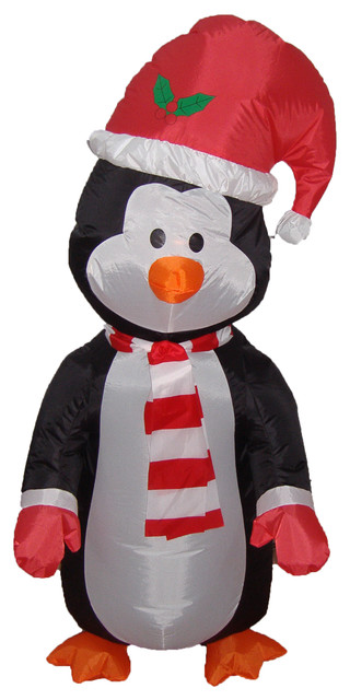 Christmas Blow up Cute Standing Penguin Yard Decoration, 4 ...