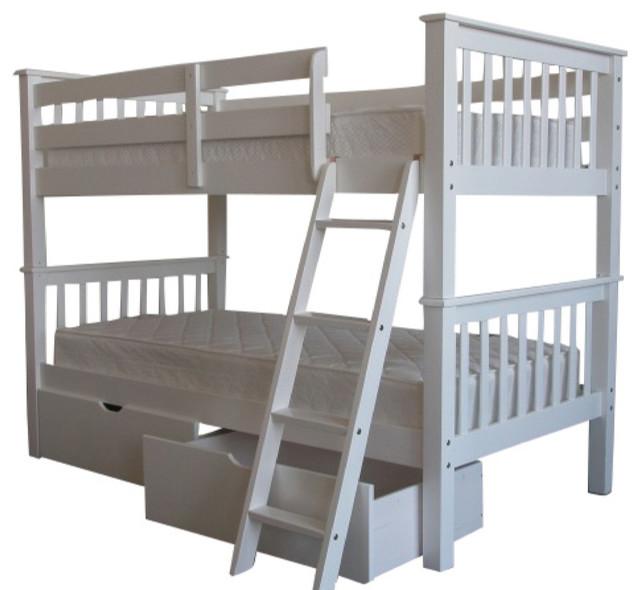 king bunk bed bedz king mission bunk bed reviews wayfair