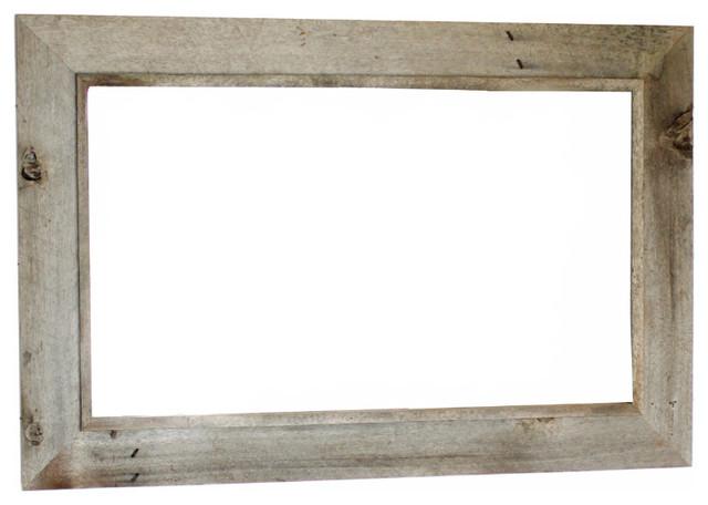 MyBarnwoodFrames - Western Rustic Mirror Reclaimed Barn Wood 202 Frame & Reviews | Houzz