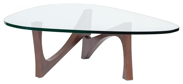 Wide Coffee Table Rounded Triangle