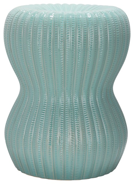 Sensational Light Aqua Hour Glass Garden Stool Acs4518C Andrewgaddart Wooden Chair Designs For Living Room Andrewgaddartcom