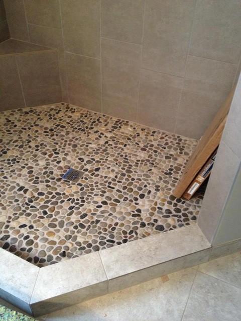 Troy Tile Stone Kitchen Bath Fixtures Pebble Rock Shower Floor Traditional