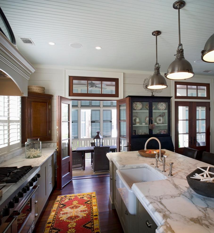 Kitchen - coastal kitchen idea in Atlanta